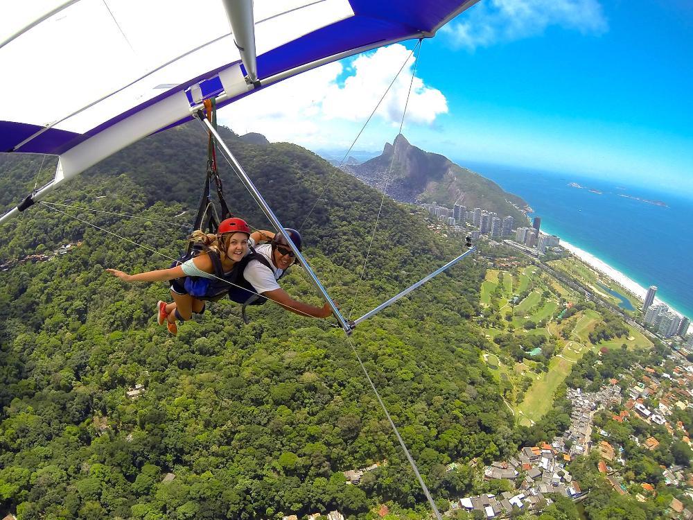 Students hang-gliding