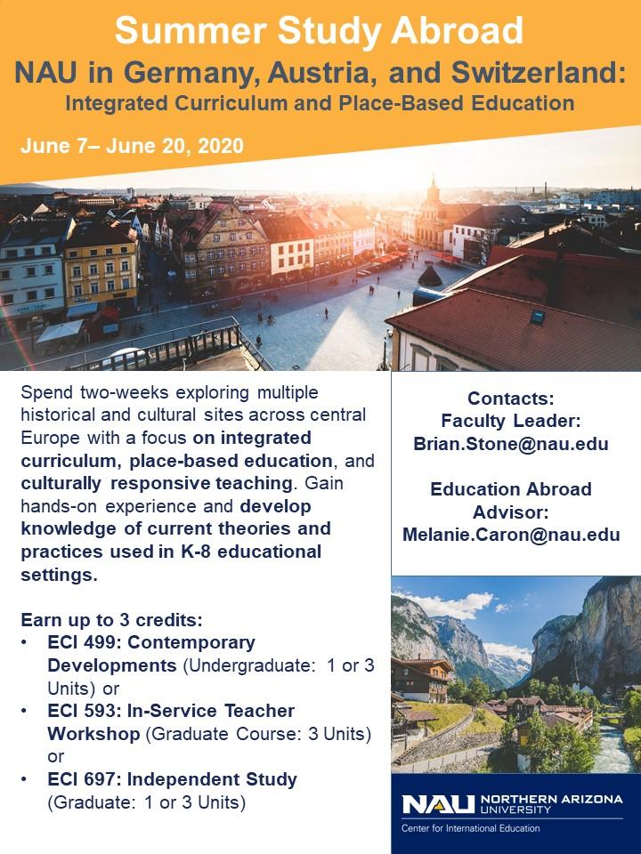 Nau Spring Break 2020.Faculty Led Programs 2019 2020 The Center For