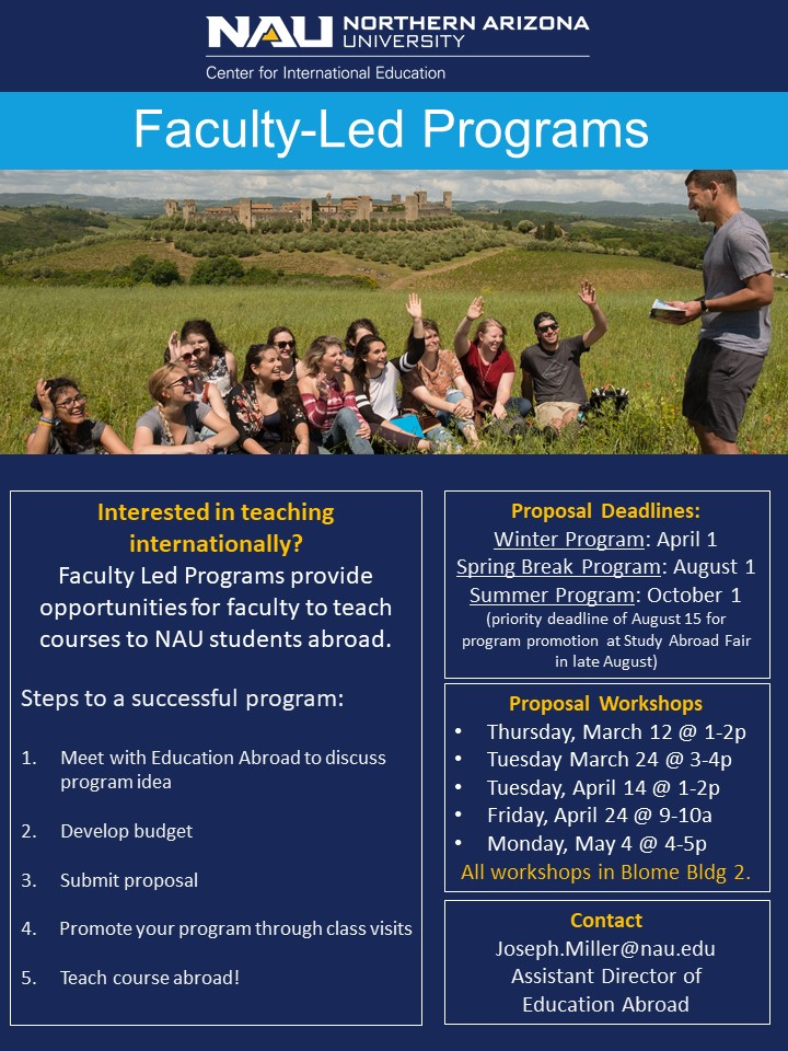Faculty Led programs flyer