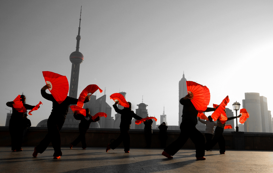 Dancing on the Bund